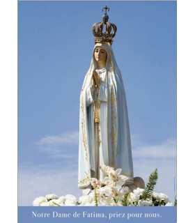 """Poster """"Notre Dame de Fatima priez pour nous"""" (PO15-0062)"""