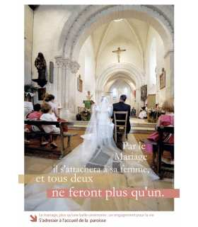 Poster devenir Chrétien-Sacrements-Mariage (PO13-0004)