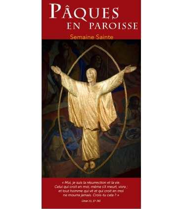 """Lot de Flyers personnalisables """" Pâques / Semaine Sainte """" (FP15-0004)"""