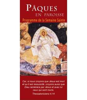 """Lot de Flyers personnalisables """" Pâques / Semaine Sainte """" (FP15-0032)"""