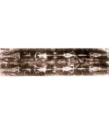 """Grand Format """"Linceul de Turin entier"""" (dos et face, positif 110x420cm) (GF14-0017_R3.86)"""