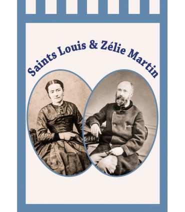 Bannière BLEU Saints Louis et Zélie Martin (BA16-0017-BLEU)