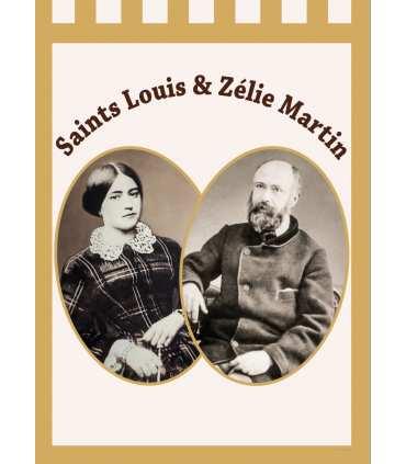 Bannière OR Saints Louis et Zélie Martin (BA16-0017-OR)