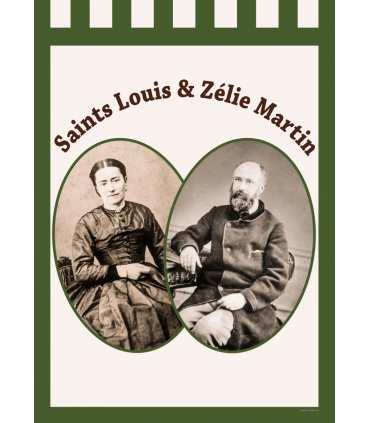 Bannière VERT Saints Louis et Zélie Martin (BA16-0017-VERT)