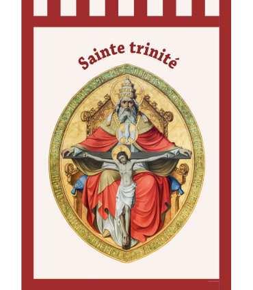 Bannière 'ROUGE' Sainte Trinité (BA16-0026-ROUGE)