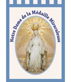 Banner Our Lady of the Rue de Bac - Médaille Miraculeuse (BA16-0027)