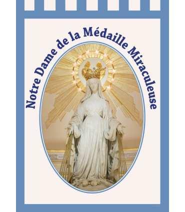 Bannière 'BLEU' Notre Dame de la Médaille Miraculeuse (BA16-0027-BLEU)