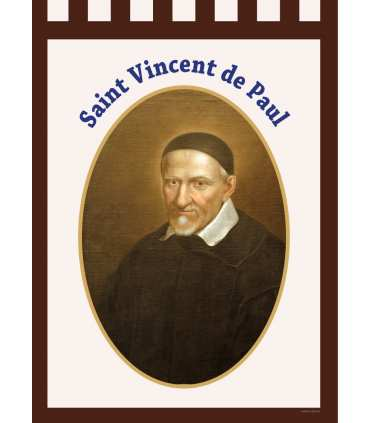 Banner Holy Vincent de Paul (BA16-0028)