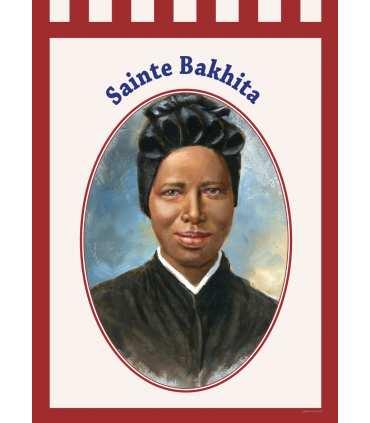 Bannière 'ROUGE' Sainte Bakhita (BA16-0031-ROUGE)