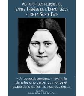 Poster Sainte Therèse visitation reliques (PO15-0090)