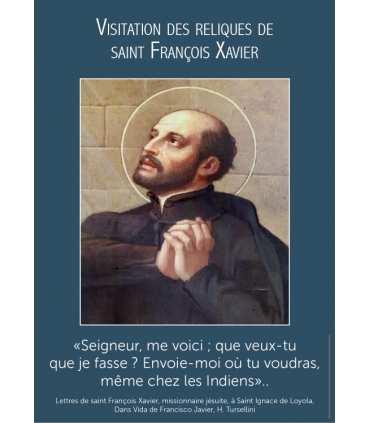 Poster Saint François Xavier visitation reliques (PO15-0091)
