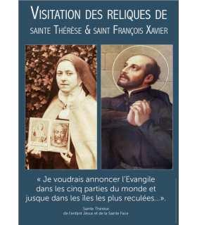 Poster Sainte Thérèse et Saint François Xavier visitation reliques (PO15-0092)