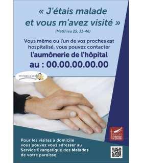 Poster SEM service évangélique des malades - personnalisable (PO15-0098)