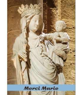 GF18-0089 Statue de la Vierge Notre Dame de Paris