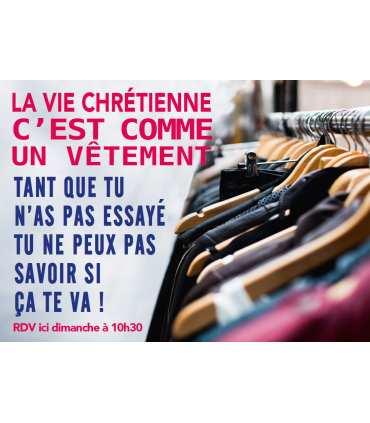 """Poster mission """"La vie chrétienne c'est comme ..."""""""