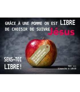 """Poster mission """"Grace a une pomme..."""""""