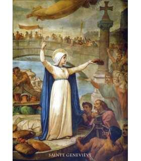 Poster Sainte Geneviève patronne de Paris PO15-0113