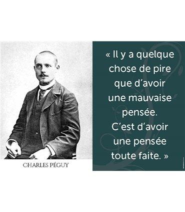 Poster citation Charles Péguy