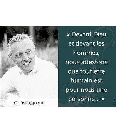 Poster citation Jérôme Lejeune