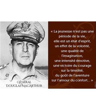 Poster citation Général Douglas MacArthur