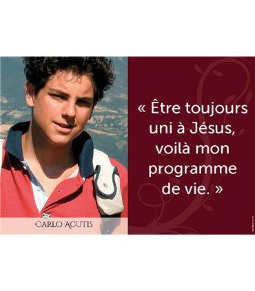 Poster citation Carlo Acutis