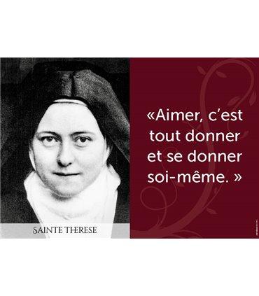 Poster citation sainte thérèse