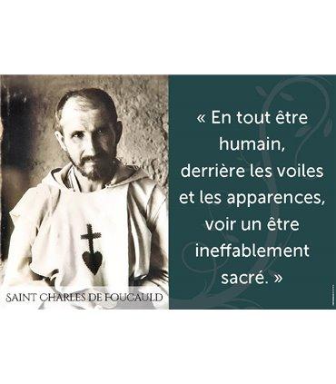 Poster citation Bhx Charles de Foucauld