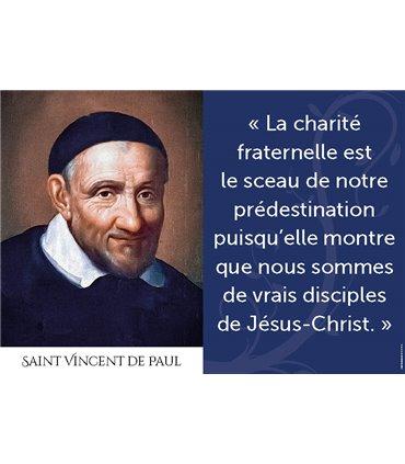 Poster citation saint Vincent de Paul