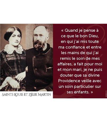 Poster citation Saint Louis et Zèlie Martin