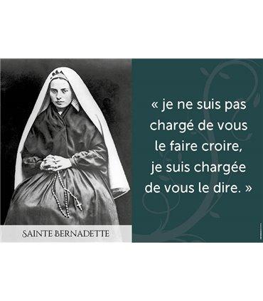 Poster citation Sainte Bernadette de Lourdes
