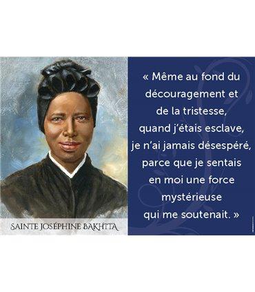 Poster citation Sainte Josehine Bakhita