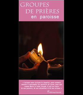 """Lot de Flyers personnalisables """" Groupes de prière """" (FP15-0020)"""