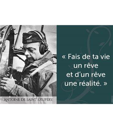 Poster citation Antoine de Saint Exupéry