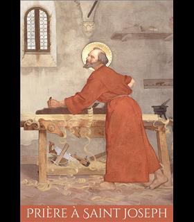 """Carte Prière """"Prière à St Joseph-2021"""" (CA15-0018)"""