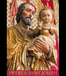 """Carte Prière """"Prière à St Joseph-2021"""" (CA15-0019)"""