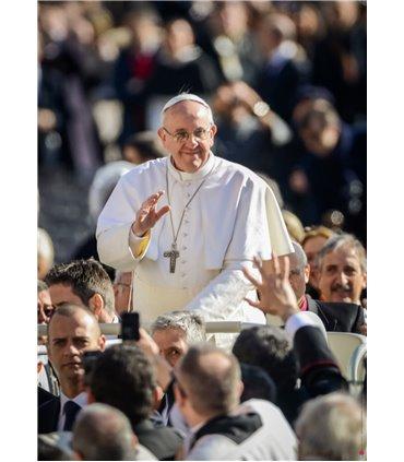 Grand Format Pape François (couleurs) (GF15-0038)