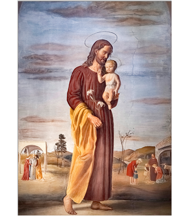 Saint Joseph portant l'Enfant Jésus (GF15-0096)