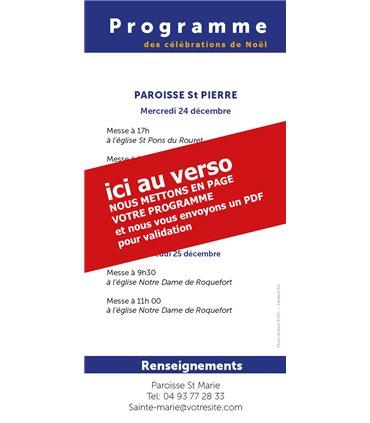 """Lot de Flyers personnalisables """" Noël """" (FP15-0034)"""