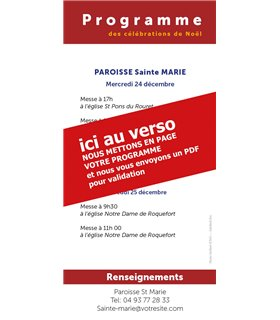 """Lot de Flyers personnalisables """" Noël """" (FP15-0048)"""