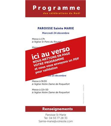 """Lot de Flyers personnalisables """" Noël """" (FP15-0050)"""