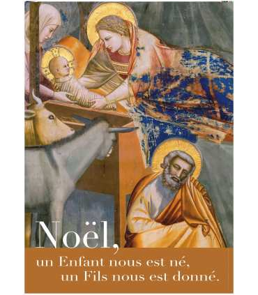 """Poster Grand format """"Noël-Giotto"""""""
