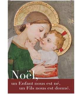 """Poster """"Noël - Vierge à l'enfant"""" (PO14-0008)"""
