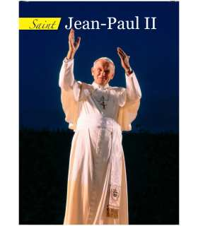 Poster St Jean-Paul-II (version 1) (fond-bleu-fonce)