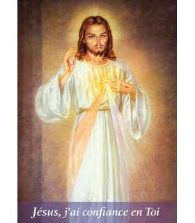 Poster Divine miséricorde «Jésus j'ai confiance en toi»