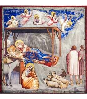 "Grand Format Giotto - Nativité ""Adoration des bergers"" impression"