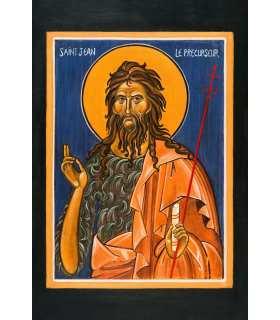 """Grand Format """"Icône St Jean Baptiste"""" impression"""
