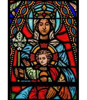 """Grand Format """"Vitrail Vierge à l'enfant"""" (GF14-0007_R1.40)"""