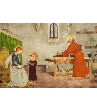 """Grand Format """"La sainte famille"""" impression"""