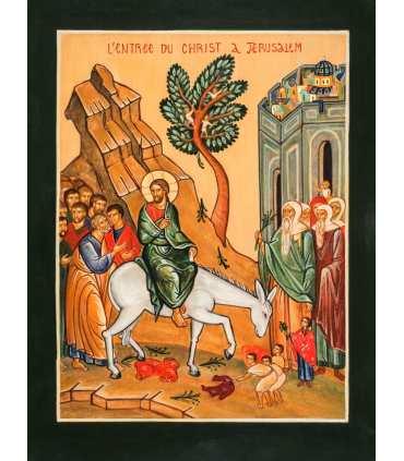 Grand Format «Icône «entrée à Jérusalem» impression