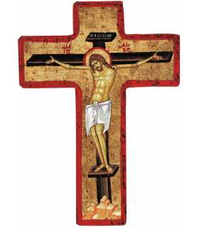 Grand Format CROIX Christ en Croix - icône Russe (GF14-0043_R1.33)